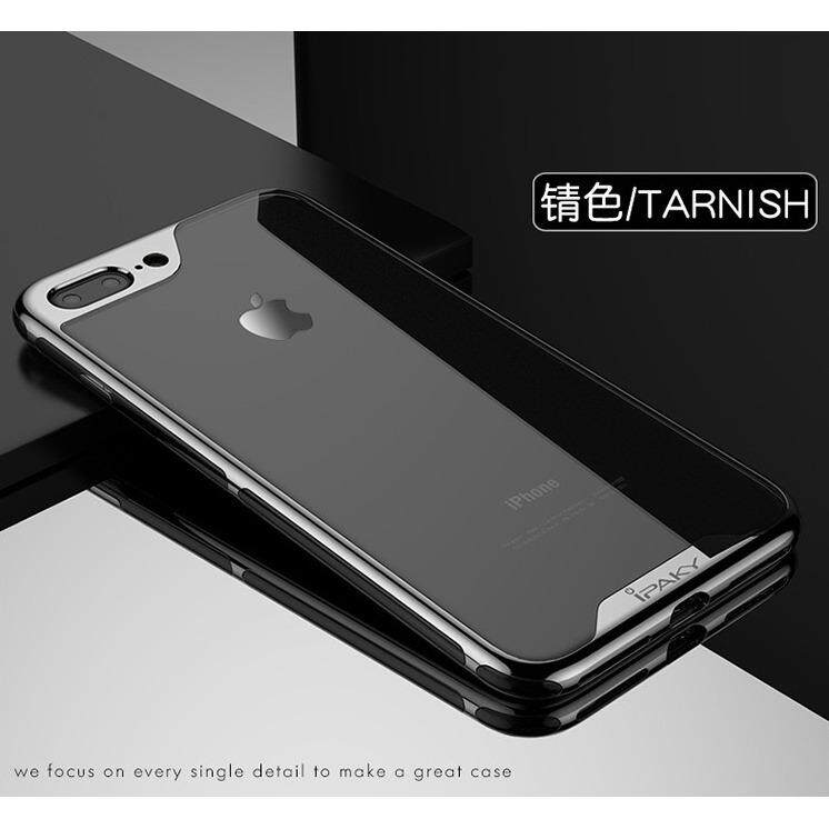 ราคา Ipaky Luxury Electroplated Clear Silicone Tpu Case For Apple Iphone 7 8 Plus เคส ไอปากี้ รุ่นลักซ์ชัวรี่ อิเล็กโทรเพลต ซิลิโคน ทีพียู สำหรับ แอปเปิ้ล ไอโฟน เจ็ด แปด พลัส หลังใส กันกระแทก ใหม่ ถูก