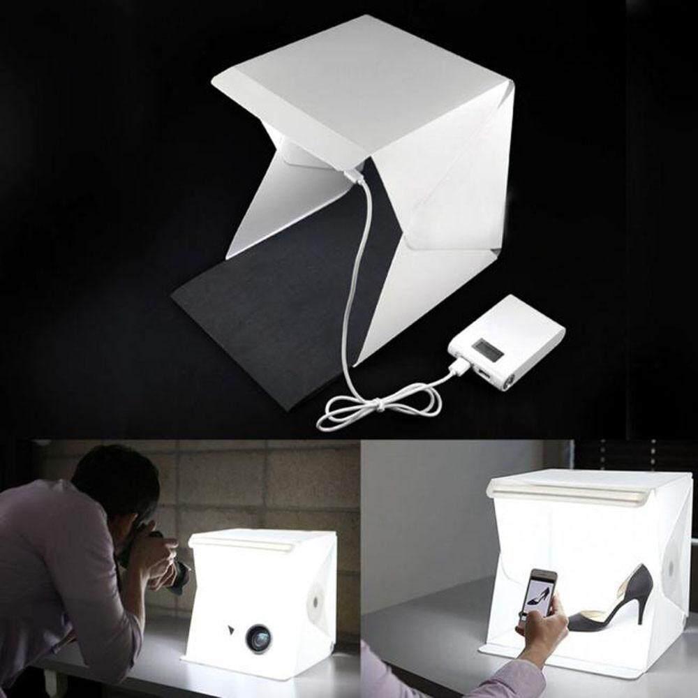ขาย Ali กล่องไฟLedถ่ายรูปสินค้า ไฟLed 20ดวง สว่าง ถ่ายรูปสวย คมชัด ครบเซท พื้นดำ ขาว ในตัว ขนาด226X230X240 Mm ออนไลน์ Thailand