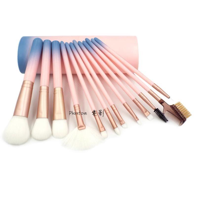 ซื้อ Super New Korea ชุดแปรงแต่งหน้า Brush Set พร้อมกระบอกแปรง Set 12 ชิ้น Pink ออนไลน์ ถูก