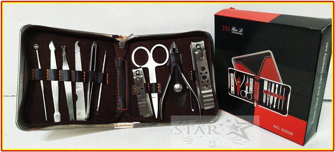 ซื้อ Stainless ที่ตัดเล็บ ชุดตัดแต่งเล็บ พร้อมกระเป๋า St 145 10ชิ็น Manicure Set ถูก กรุงเทพมหานคร
