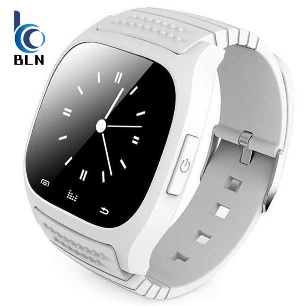โปรโมชั่น 【Bln Tech】Smart Bluetooth M26 Watch With Led Display Dial Sms Reminding Music Player Pedoeter Wristwatch For Mobile Phone White ถูก