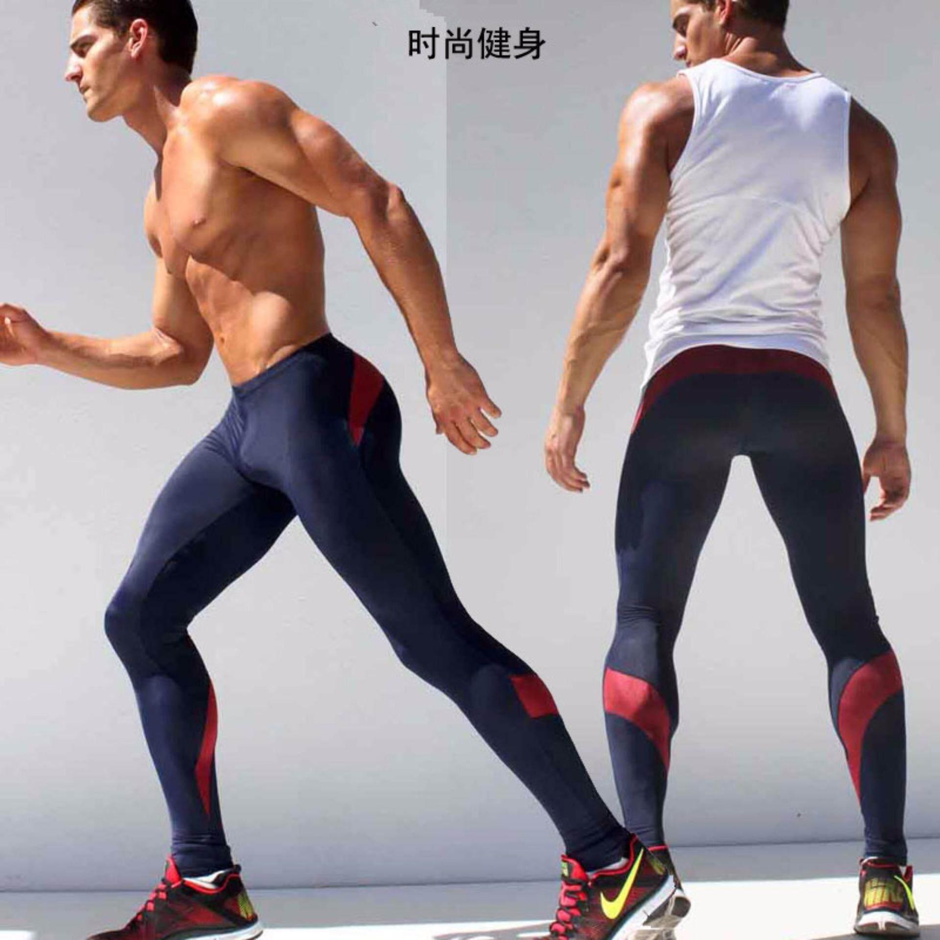 ราคา ผู้ชายกางเกง 2017 ใหม่การบีบอัดกางเกงยี่ห้อเสื้อผ้าฐานชั้น Tights ออกกำลังกายขายาวกางเกงกางเกงผู้ชาย นานาชาติ เป็นต้นฉบับ Unbranded Generic