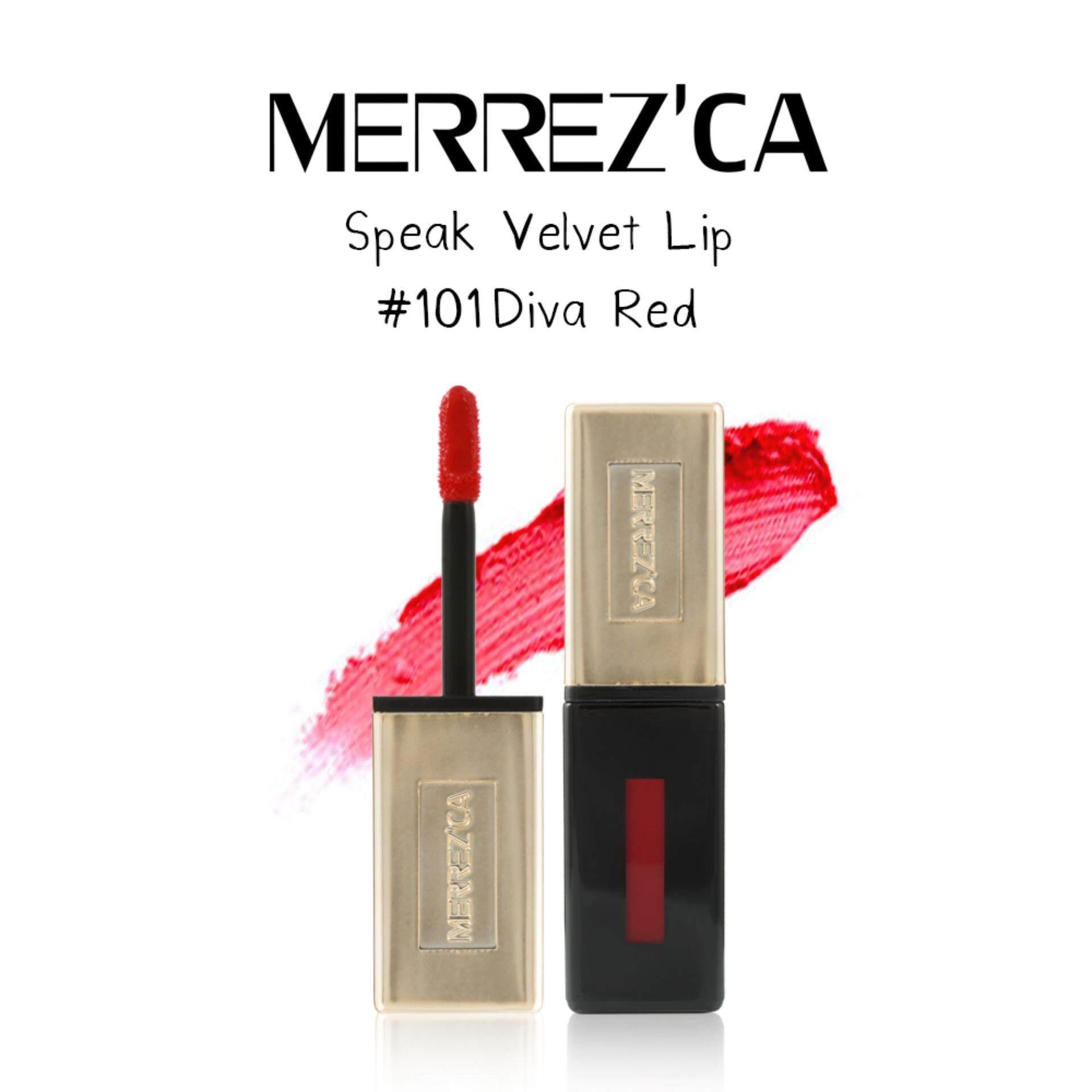 ราคา Merrezca Speak Velvet Lip 101 Diva Red ใหม่ ถูก