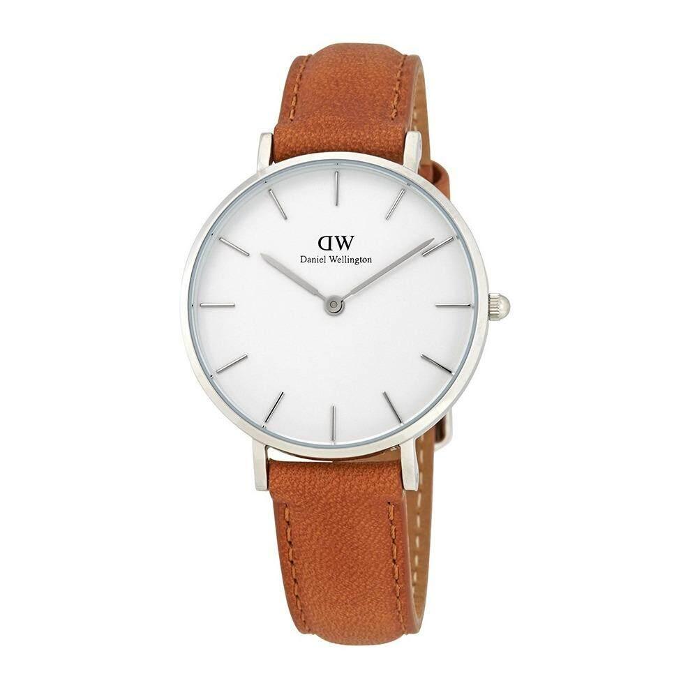 ขาย ซื้อ ออนไลน์ Daniel Wellington Dw00100184 Classic Petite Durham White Dial 32Mm นาฬิกาข้อมือ แฟชั่น ผู้หญิง สายหนัง สีเงิน White Dial Leather Strap