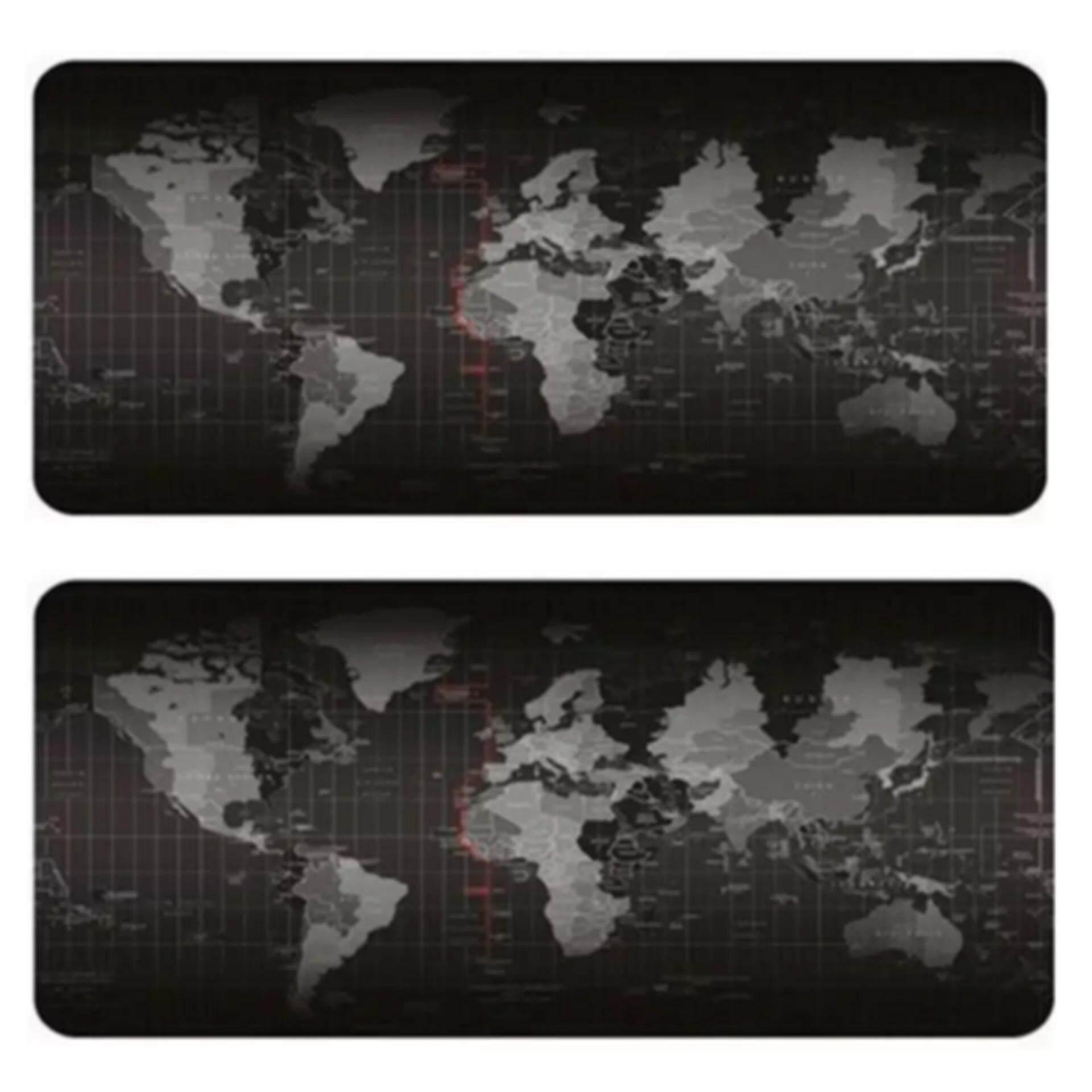 ขาย ซื้อ Big Size 80 X 30 Cm Mouse Pad แผ่นรองเม้าส์ ขนาดใหญ่ ใช้งานดี ลายแผนที่โลก 2ชิ้น ใน กรุงเทพมหานคร