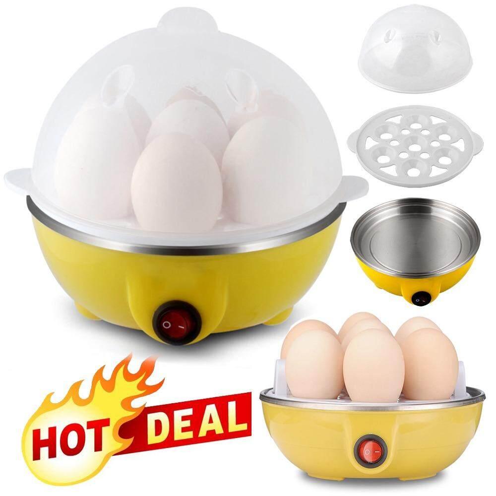 ราคา Multifunction Eggs Steamer หม้อต้มไข่ อุ่น นึ่ง อาหารมัลติฟังก์ชั่น ระบบไอน้ำ Yellow ที่สุด