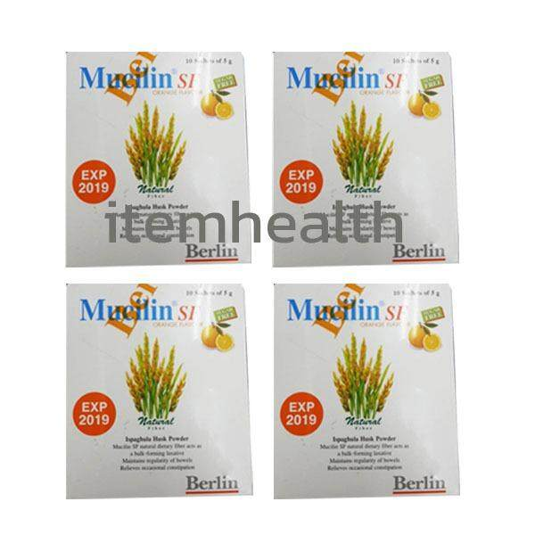 ขาย Mucilin Sf Sugar Free 10 ซอง 4กล่อง มิวซิลิน ไฟเบอร์ธรรมชาติ รสส้ม เป็นต้นฉบับ