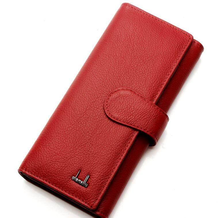 ราคา Lady Rewards กระเป๋าสตางค์หนังแท้ สำหรับสุภาพสตรี รุ่น Wlw C2003 สีดำ Pp ใหม่