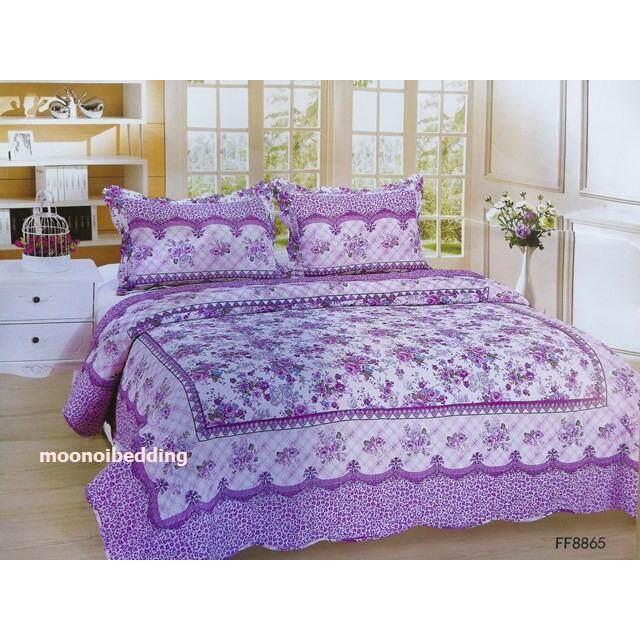 ซื้อ Moonoibedding ชุดผ้าคลุมเตียงลายวินเทจ พร้อมปลอกหมอน ขนาด 6 ฟุต Bc0601 ใหม่