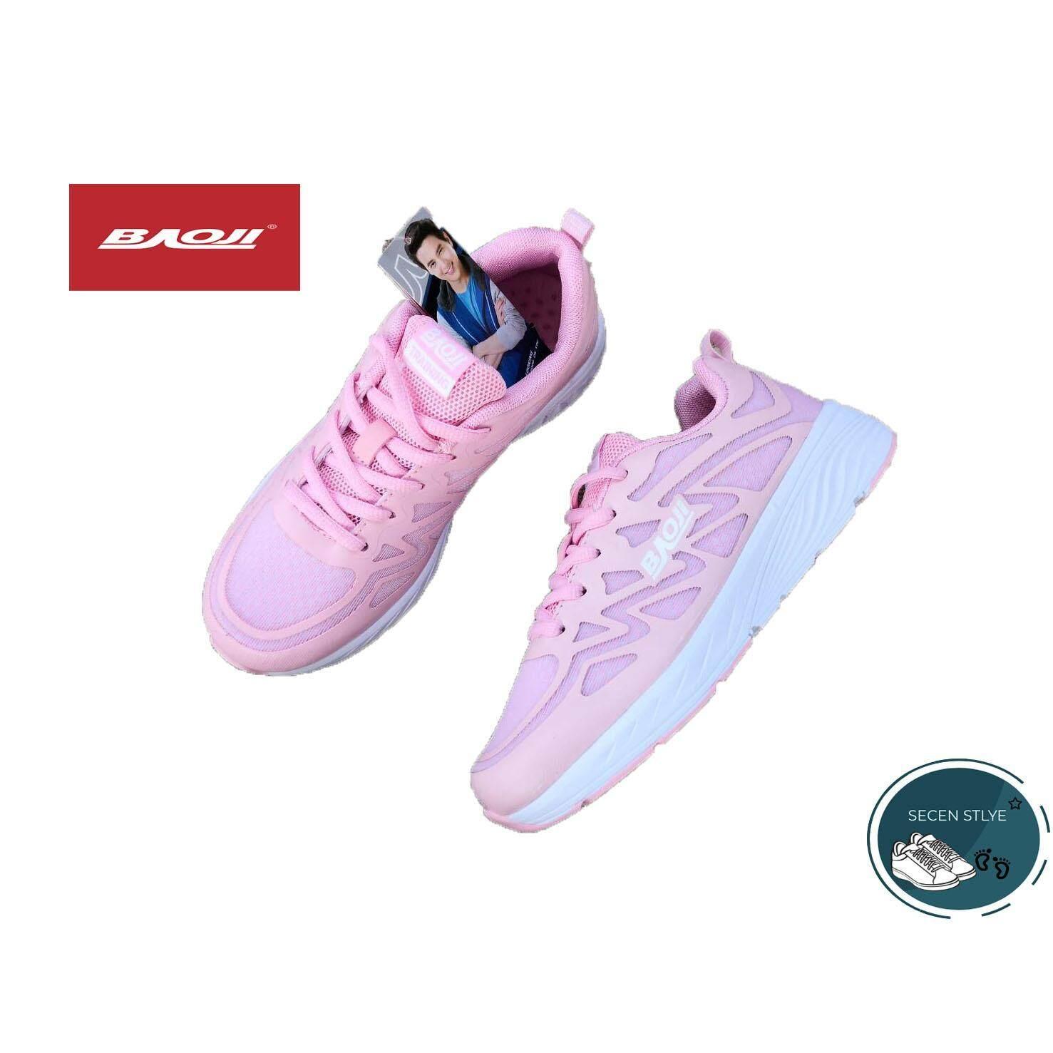 ขาย Baoji แท้ รุ่น Bjw 347 สำหรับผู้หญิง รองเท้าผ้าใบ สวมใส่สบาย เบา สีชมพู ใน ไทย