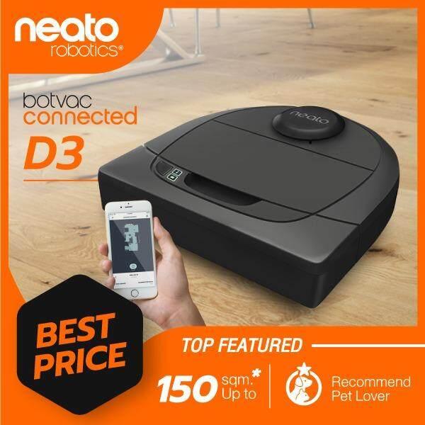 ราคา Neato Robot หุ่นยนต์ดูดฝุ่น โรบอท ระบบเลเซอร์นำทางที่ฉลาดที่สุด รุ่น D3 เป็นต้นฉบับ
