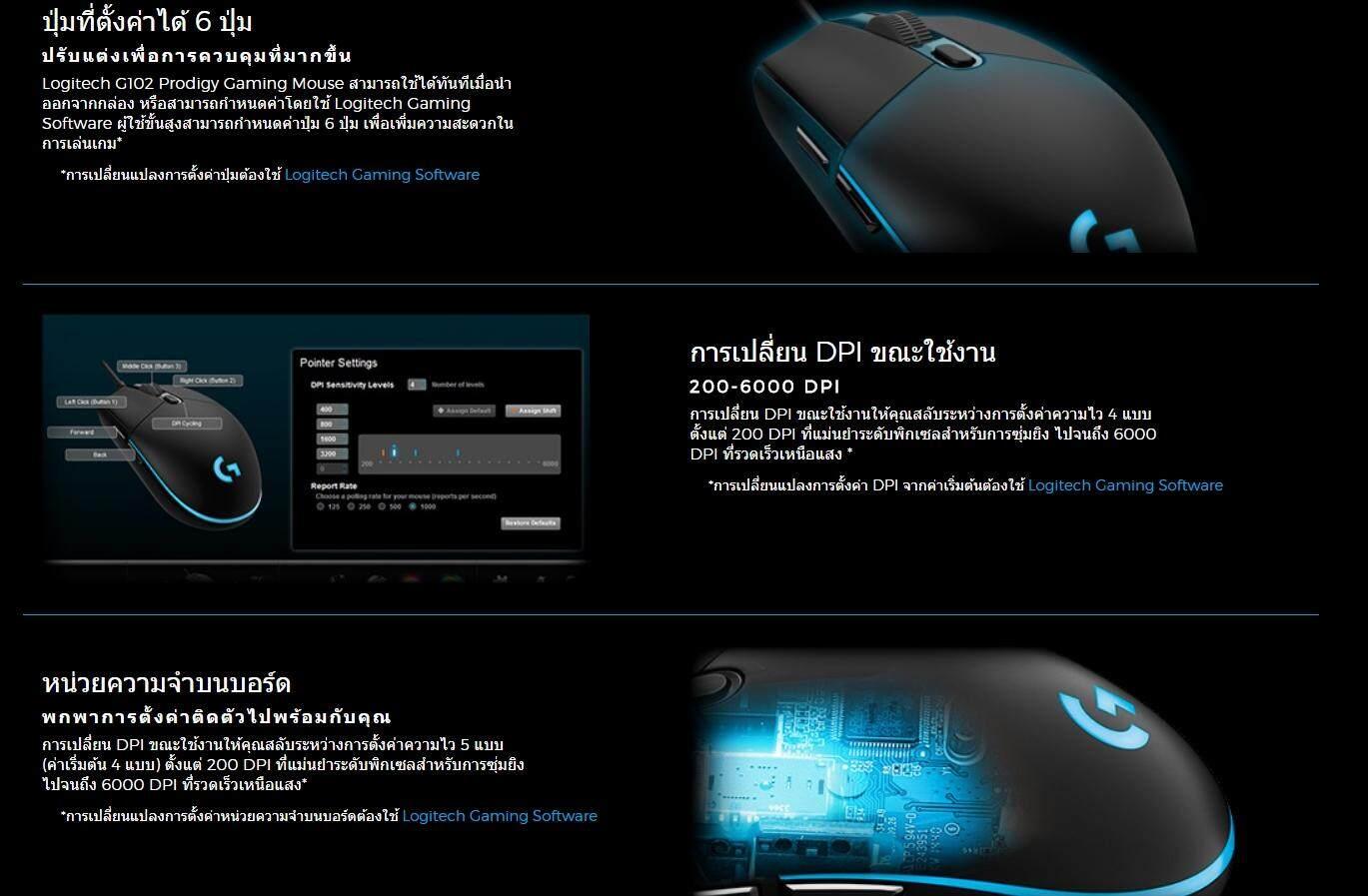 Logiitech G102 Prodigy Gaming Mouse 6000 Dpi Hitam Update Daftar Garansi Resmi Logitech 2 Tahun
