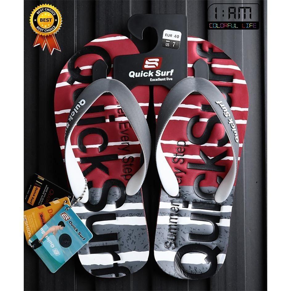 ขาย สีแดง รองเท้าแตะ หูคีบ ลำลอง แฟชั่นชายหาด และ ทุกเส้นทาง Flip Flops Sandals Slippers Shoes ลาย Japan Summer Graphic กันลื่น จากวัสดุ Eva สำหรับผู้ชาย Quick Surf ผู้ค้าส่ง