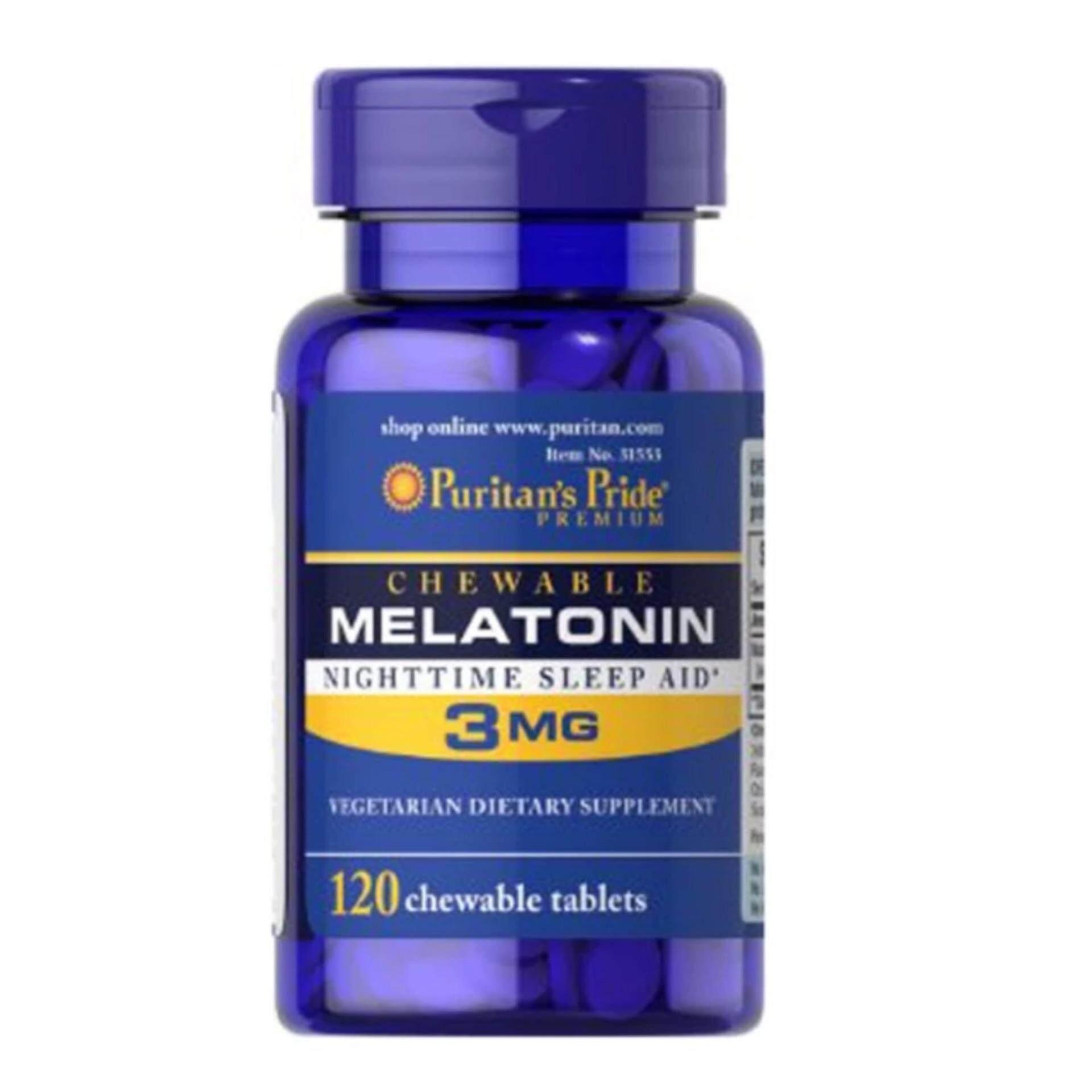ราคา Puritan S Pride Melatonin 3 Mg เมลาโทนิน 120 เม็ด 1 กระปุก Puritan S Pride ออนไลน์