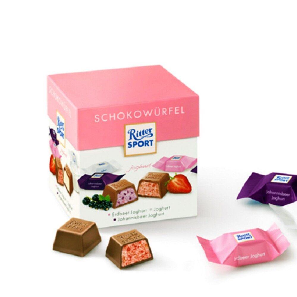 ราคา Ritter Sport Schokowurfel ช๊อคโกแลค อร่อย 1 กล่อง สินค้านำเข้าสุดแสน Ritter Sport