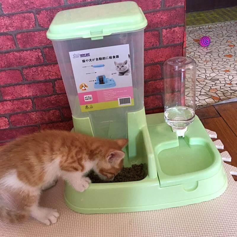 แมวชามคู่อัตโนมัติเครื่องให้อาหาร