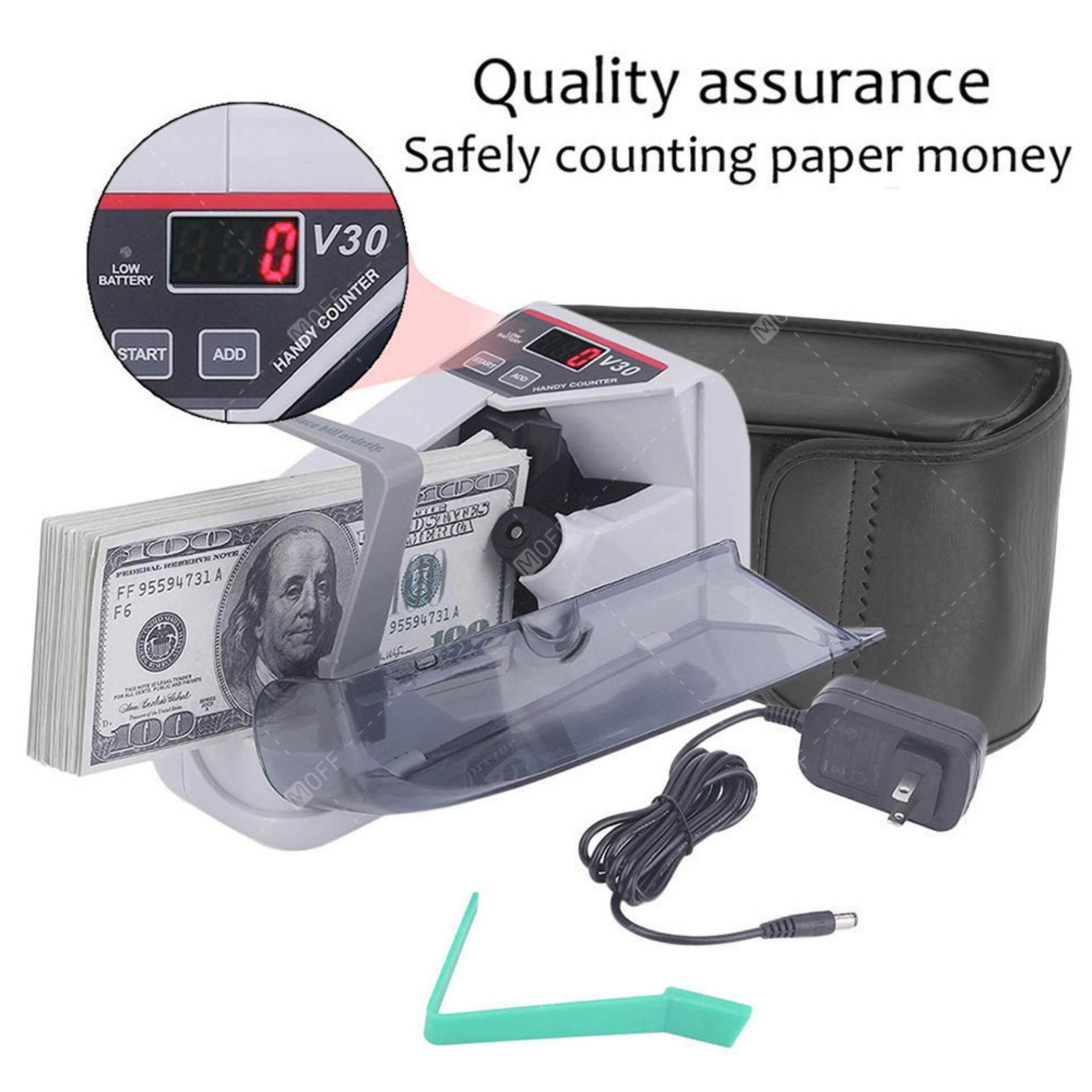 ซื้อ Moff เครื่องนับเงิน ขนาดพกพา Portable Bill Counter V30 เครื่องนับแบงค์ เครื่องนับธนบัตร ขนาดเล็ก ใช้ Adapter หรือใส่ถ่านก็ได้ รุ่น Kdo 0002 Moff ถูก