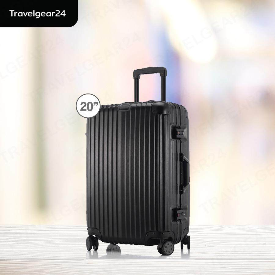 ขาย Travelgear24 กระเป๋าเดินทางขนาด 20 นิ้ว โครงอลูมิเนียม อลูมิเนียม วัสดุ Abs Pc Model A1901 Black สีดำ Travelgear24 ผู้ค้าส่ง
