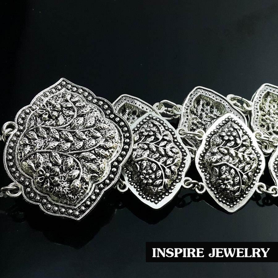โปรโมชั่น Inspire Jewelry เข็มขัดเทียมเงิน รมดำ สวยงามมากเข็มขัดเทียมเงิน รมดำ สวยงาม ปราณีต ราคาประหยัด ใช้ตกแต่งเสื้อผ้าไทย หรือใส่ประดับ ผ้าซิ่น ผ้าถุง Inspire Jewelry