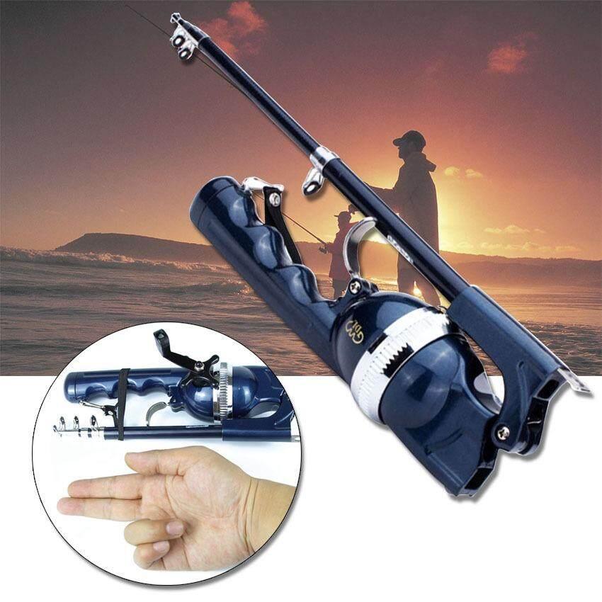 ขาย Tml เบ็ดปากกา เบ็ดตกปลา เบ็ดพับได้ เบ็ดพกพา Folding Fishing Rod Blue Tml ออนไลน์