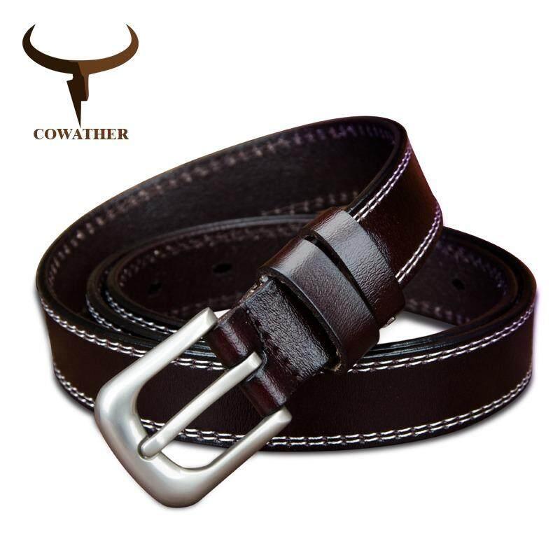 ซื้อ Cowather Women 100 Cow เข็มขัดหนังเข็มขัดเข็มขัดเข็มขัด Belt รูปแบบ Vintage เข็มขัดผู้หญิงบางสำหรับกางเกงยีนส์ 115Cm Intl ใน จีน