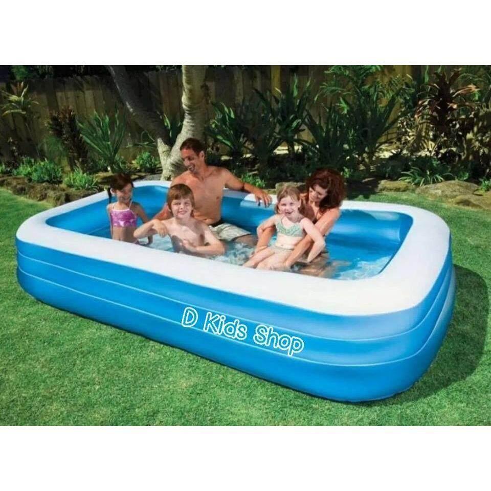 ซื้อ Smile Kids สระน้ำขนาดใหญ่ สระน้ำเป่าลม ขนาด 305 183 56 Cm ถูก กรุงเทพมหานคร