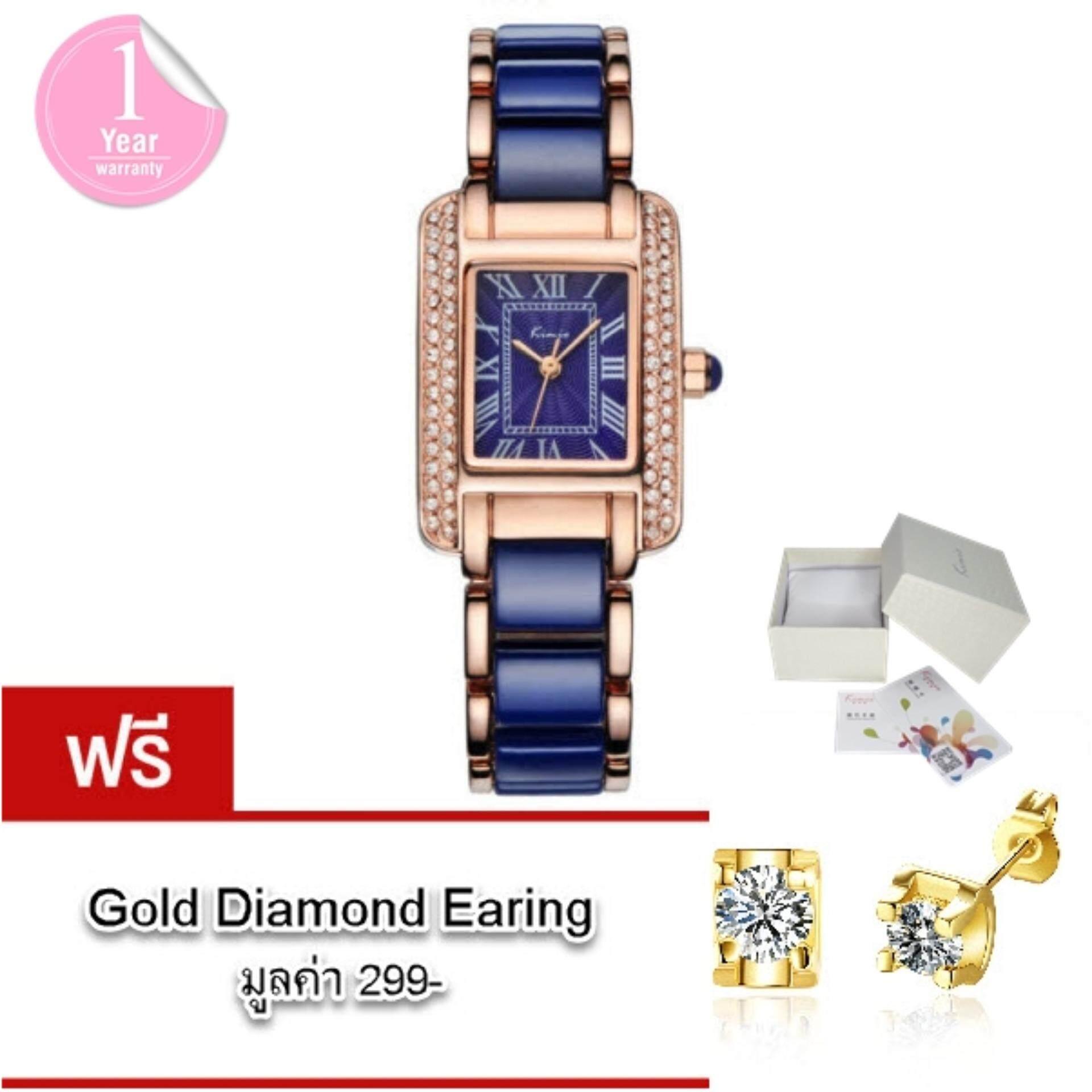 ขาย Kimio นาฬิกาข้อมือผู้หญิง แท้ 100 สาย Alloy สุดอินเทรนด์แฟชั่นของสาวๆ รุ่น Kw6036 พร้อมกล่อง Kimio แถมฟรี ต่างหูรูป Gold Diamond มูลค่า 299 ออนไลน์ ใน สมุทรปราการ