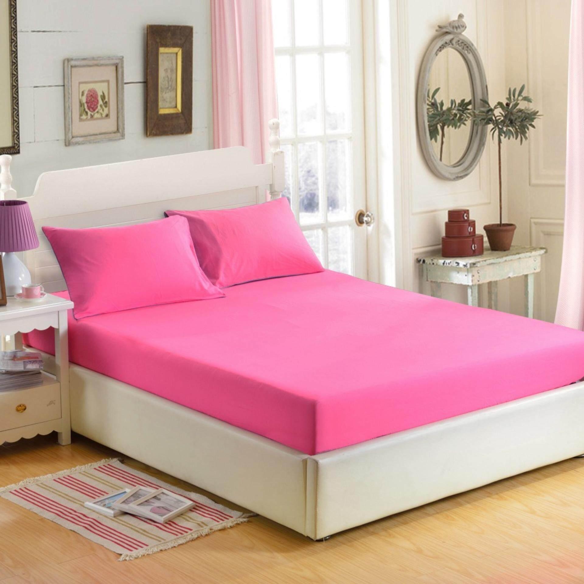 ราคา Dsd 003 ชุดผ้าปูที่นอน 5 ชิ้น 5 ฟุต พื้นสีชมพูอมแดงอ่อน ใน กรุงเทพมหานคร