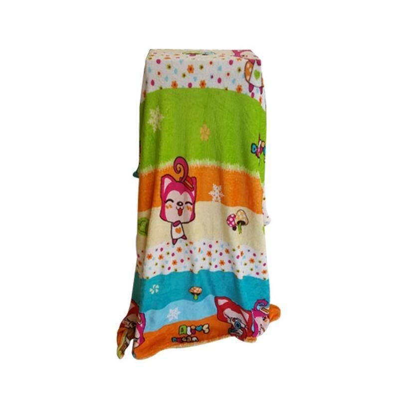 ราคา Fd Premium ผ้าห่ม ผ้าคลุม ผ้านาโน ขนาด 5 ฟุต แบบมีกระเป๋าใส่ รุ่น Nba027 ลายการ์ตูน ลายทางการ์ตูนแมว หลากสี ใหม่