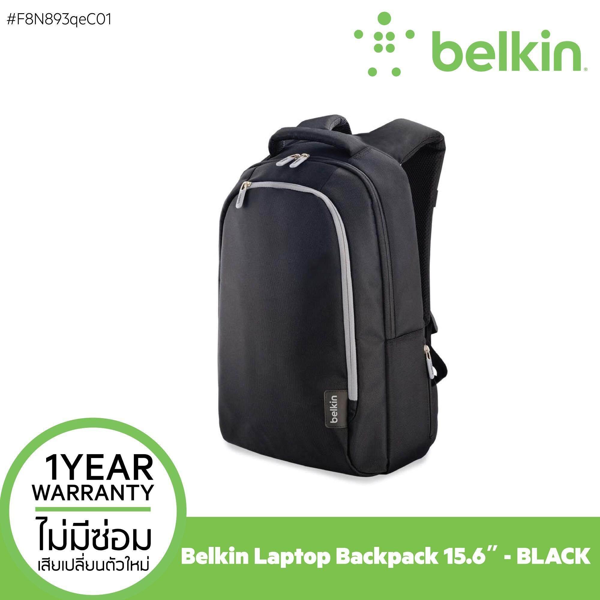โปรโมชั่น Belkin กระเป๋าสะพายหลัง Backpack 15 6 Laptop Black Gray Belkin ใหม่ล่าสุด