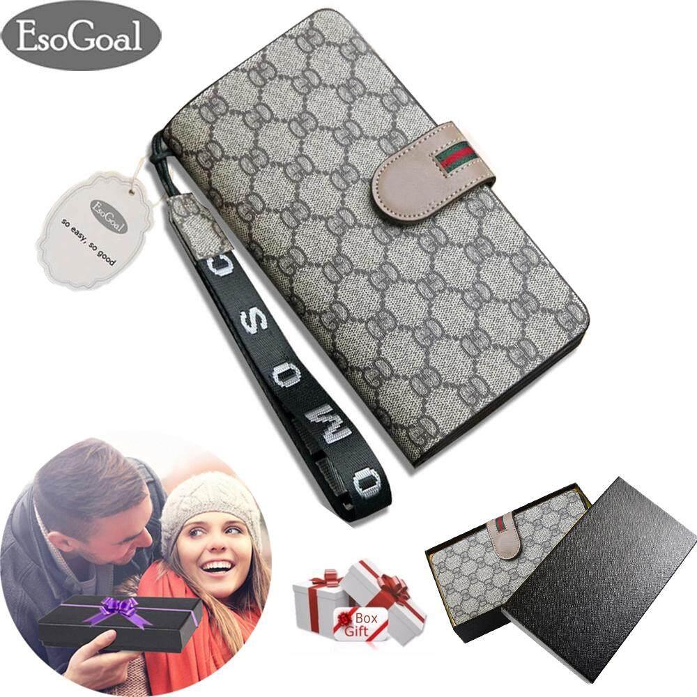 ขาย Esogoal Women Large Capacity Leather Purse Clutch Wallet Bifold Checkbook With Wrist Strap For Valentine S Day Present Box ออนไลน์ ใน จีน