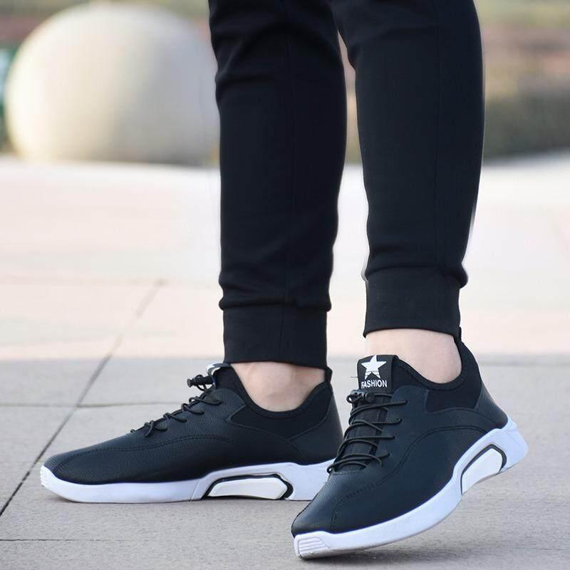 โปรโมชั่น Sun New Fshion รองเท้าผ้าใบ รองเท้าผ้าใบผู้ชาย รองเท้าแฟชั่น Af 1 Black ถูก