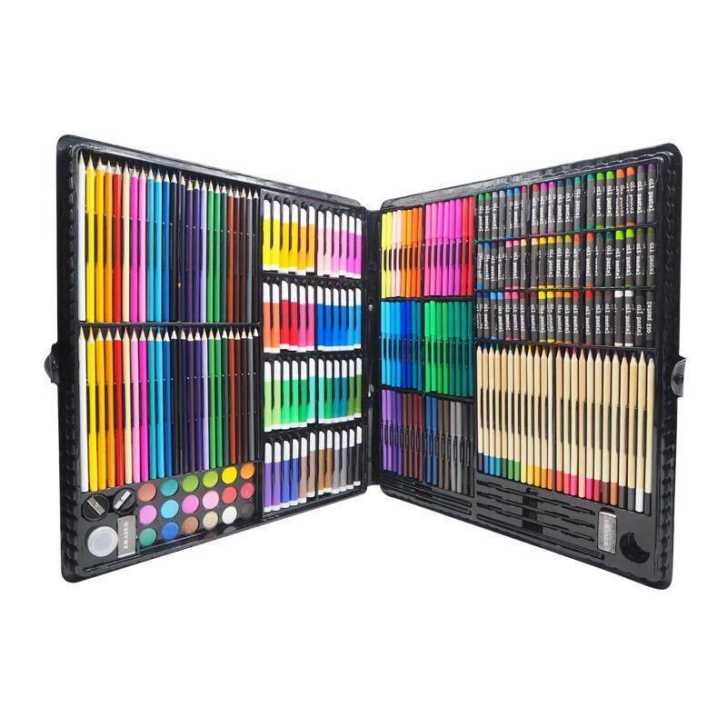 Premium Set+ ชุดเครื่องเขียน ดินสอสี ชุดวาดรูป ชุดระบายสี เครื่องเขียนสำหรับเด็ก วาดภาพ วาดรูปเด็ก 258ชิ้น