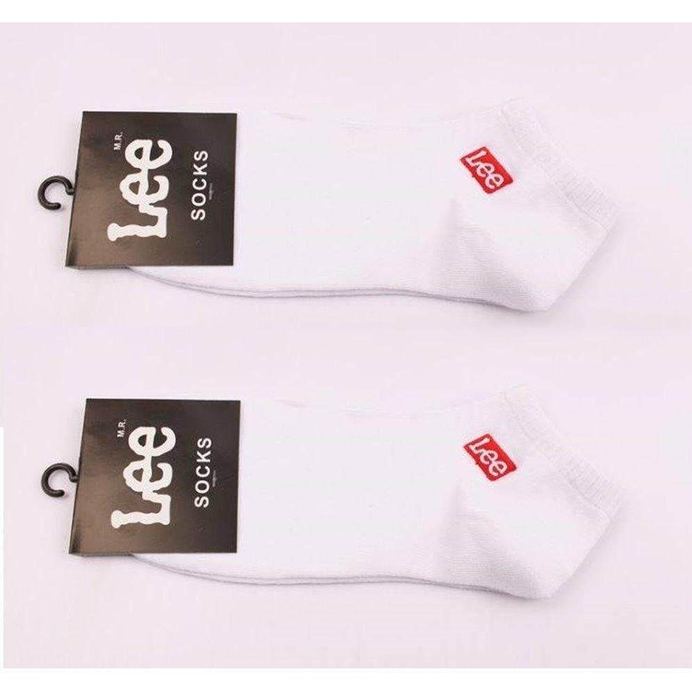 โปรโมชั่น Lee Socks ถุงเท้าผู้ชาย ถุงเท้าผู้หญิง ถุงเท้าวิ่ง ถุงเท้าเที่ยว ถุงเท้ากีฬา ถุงเท้าแฟชั่น สีขาว แพ็ค 2 คู่ Warehouse ใหม่ล่าสุด
