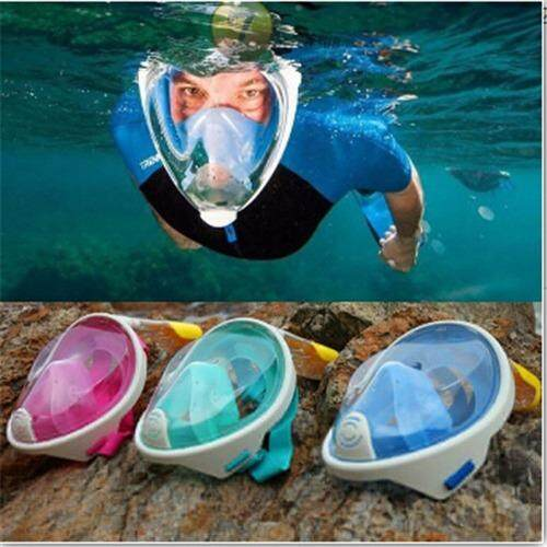 ซื้อ New Arrival Snorkel Mask Full Face Design Snorkeling Diving Mask Anti Fog And Anti Leak Technology Water Sports Intl ใหม่ล่าสุด