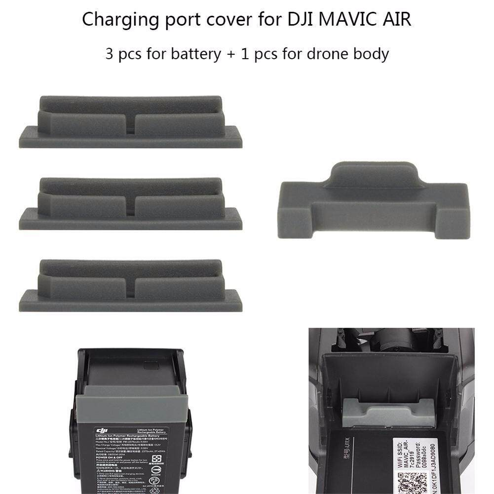 ขาย ซื้อ Joint Victory 3 Pcs Battery Cover Dustproof 1 Pc Drone Body Lipo Plug Protector For Dji Mavic Air Accessories ใน จีน