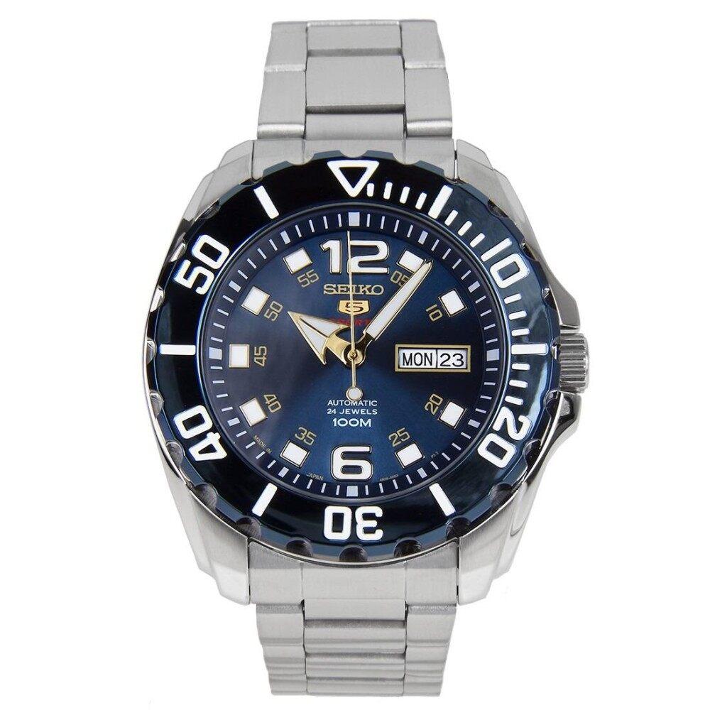 โปรโมชั่น นาฬิกาข้อมือ Seiko Automatic New Baby Monster Srpb37J1 Made In Japan Blue บุรีรัมย์