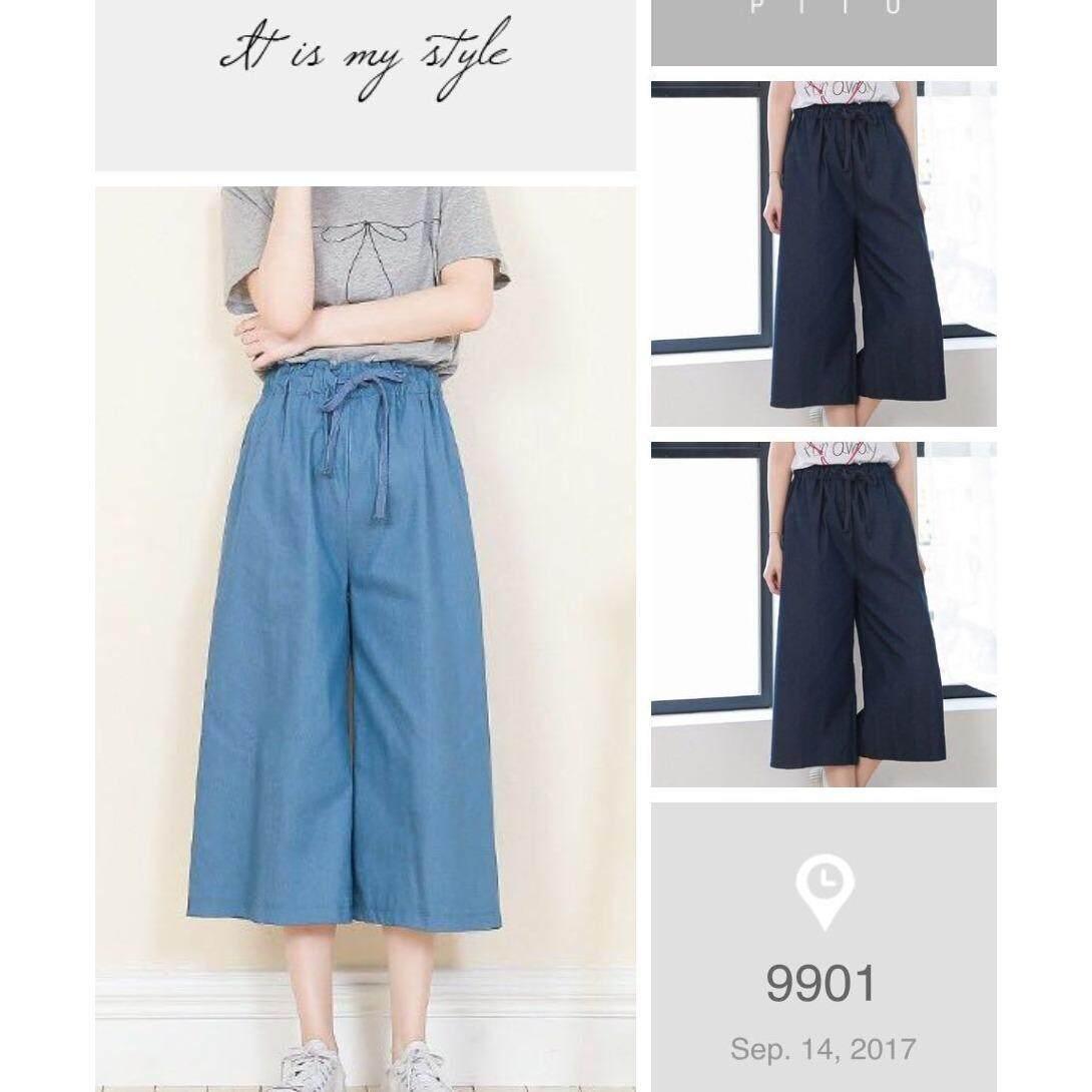 ส่วนลด 9901กางเกงผ้ายีน เอวยางยืด ทรง5ส่วน ผ้าไม่หนา นิมใส่สบาย Yg Fashion ใน กรุงเทพมหานคร