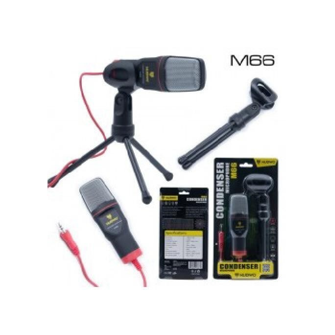 ขาย Nubwo Condenser Microphone ไมค์โครโฟน พร้อมขาตั้ง รุ่น M66 สีดำ Black Nubwo ถูก