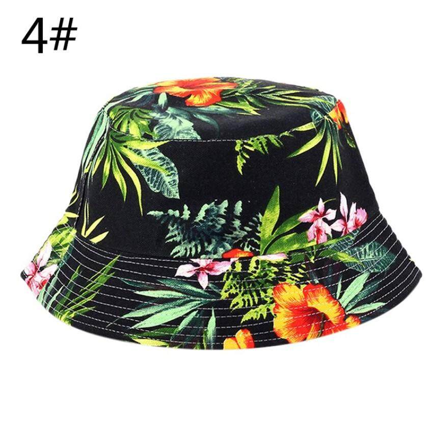 LouisWill Chic Unisex Men Women Boonie Hunting Fishing Outdoor Cap Floral Bucket Sun Hat