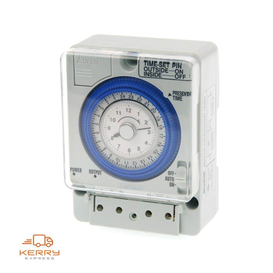 Haco นาฬิกาตั้งเวลา มีแบตเตอรี่สำรองไฟ Automatic Time Switch TM-B20 20A 220V