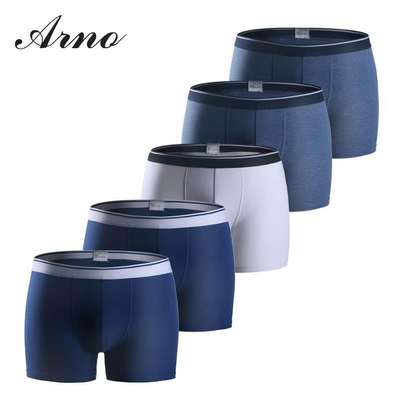 ขาย กางเกงยืดชายฝ้าย Arno ชุดชั้นในชายกางเกงบ็อกเซอร์ Brifes 5 ชิ้น ล็อต Arno เป็นต้นฉบับ