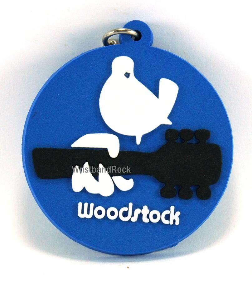 WOODSTOCK พวงกุญแจ ยาง พรีเมี่ยม คล้องกระเป๋าวงอีโม ร็อค เมทัล เดท ฮิต เกาหลี ป๊อป พร้อมส่ง