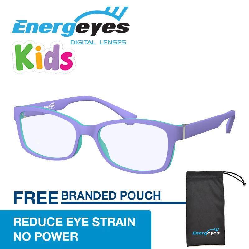โปรโมชั่น Energeyes Kids แว่นตาคอมพิวเตอร์ Protect Eyes และตัดแสงสีฟ้าโดยเด็ก 50 รูปสี่เหลี่ยมผืนผ้าด้านหน้าสีม่วงและฮิปโปสีม่วงกลับ สนามบินนานาชาติ ถูก