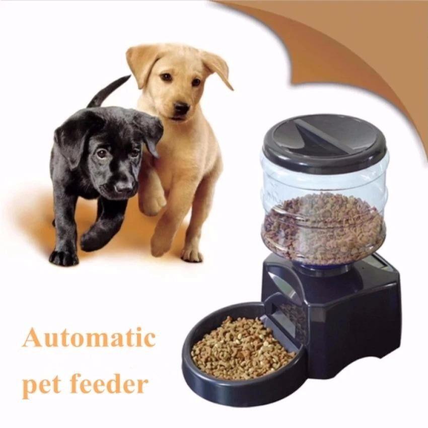 เครื่องให้อาหารสัตว์เลี้ยงอัตโนมัติ perfect pet diner (สีดำ)