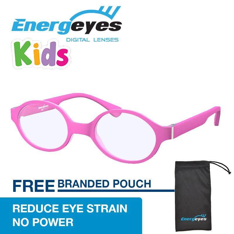 ขาย ซื้อ Energeyes Kids ป้องกันความเมื่อยล้าแว่นตาคอมพิวเตอร์ปกป้องดวงตาและตัดแสงสีฟ้าโดย 50 เด็กรอบ Matte สีชมพูด้านหน้าและ Back สนามบินนานาชาติ สมุทรปราการ
