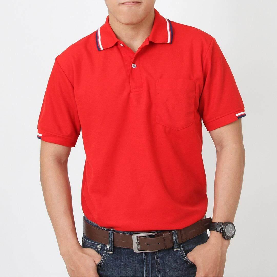 ทบทวน ที่สุด Polomaker เสื้อโปโล Kaneko Tk Pk103 สีแดง Male