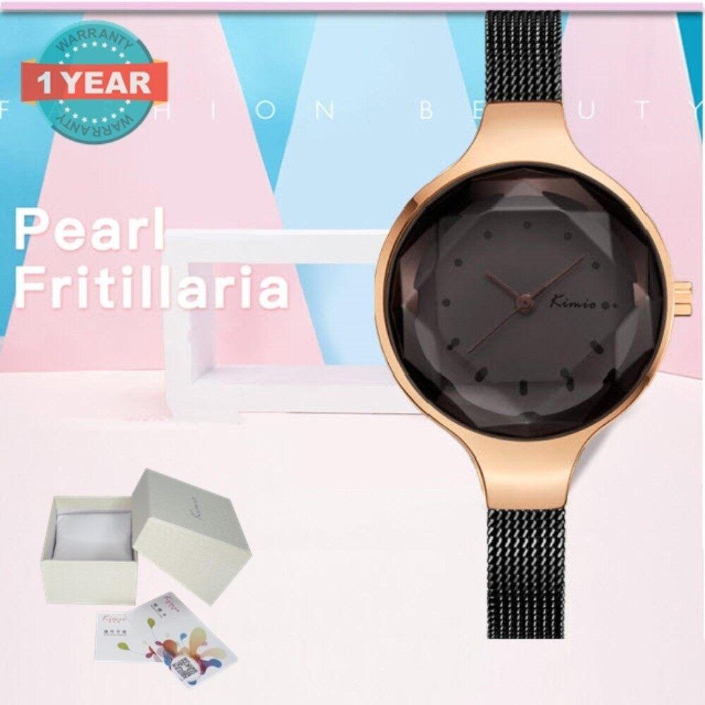 ราคา Kimio นาฬิกาข้อมือผู้หญิง สายสแตนเลส สีดำ โรสโกล์ด รุ่น Kw6245 ที่สุด