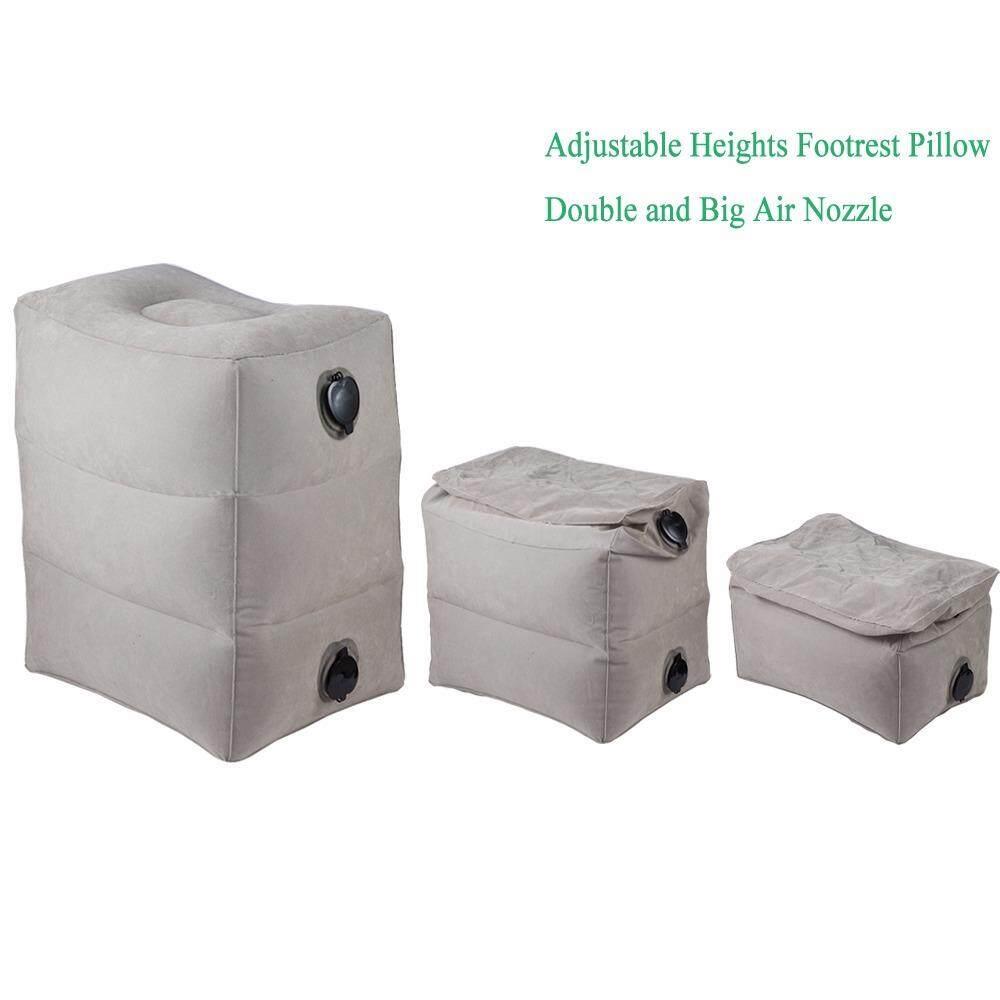 ขาย Inflatable Height Adjustable Kids Flight Footrest Pillow Two Valves Design Inflatable Travel Pillow Foot Pad Foot Rest Pillow Intl