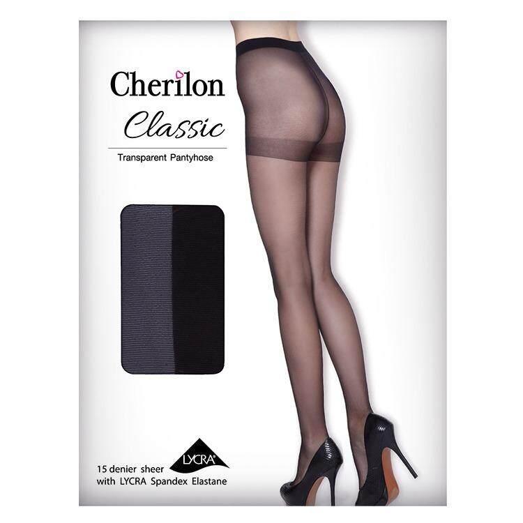 Cherilon เชอรีล่อน ถุงน่องเนื้อลินินเชียร์ Classic Pack 2 คู่ รุ่น Nsa Phcbls 08 สีดำ Cherilon ถูก ใน กรุงเทพมหานคร